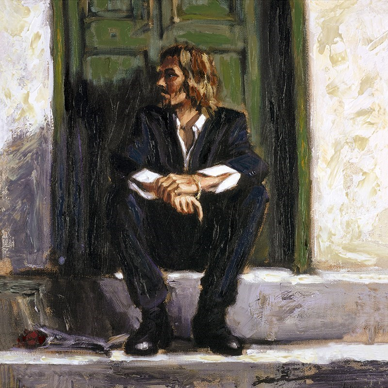 Image: Waiting for the Romance to Come Back I (Deluxe Edition) by Fabian Perez | Hand Embellished Limited Edition on Canvas